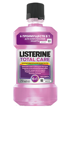 Упаковка LISTERINE® TOTAL CARE